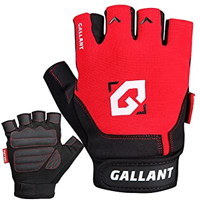 Gallant Gel Weight Lifting Gloves Gym Training Exercise Fitness Wrist Support Straps from Gallant Sports