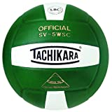 Tachikara Sensi-Tec Composite High Performance Volleyball (White/Darkgreen)