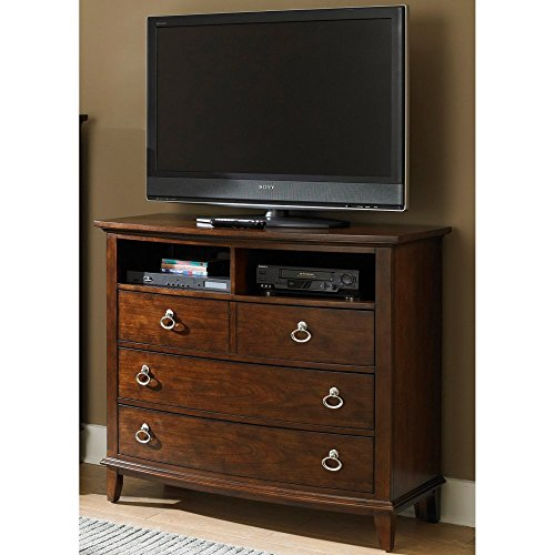 Liberty Furniture Midland Park Media Chest - Toffee Stain, Brown, Wood front-653104