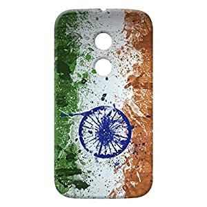 100 Degree Celsius Back Cover for Motorola Moto E 2nd Gen (Independence Day)
