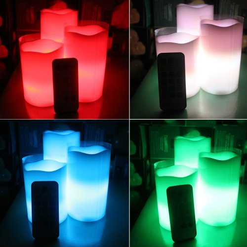 Home-Cube® Changing 12 Color Led Electronic Flameless Smokeless Candle Light Remote Control