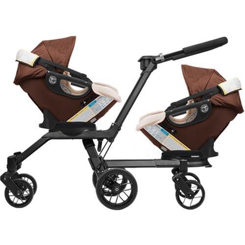 Orbit Baby - G3 Double Helix Stroller With 2 Car Seats - Mocha Khaki front-294931