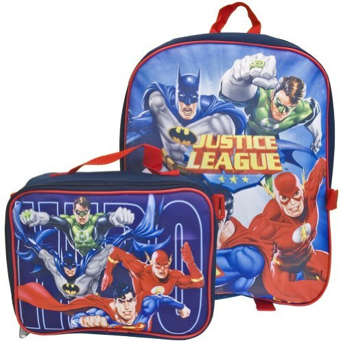 Old Glory Boys Justice League Of America - Group Charge Medium Backpack With Detachable Case