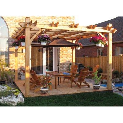 Outdoor Living Today Breeze Western Red Cedar 8' x 10' Pergola - 12' x 20'