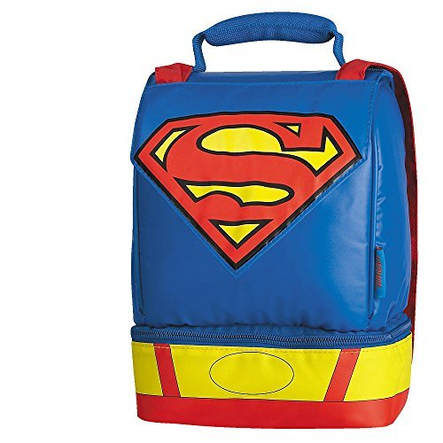 Superman Dual Compartment with Cape Lunch Kit - 1