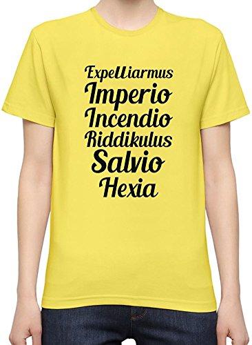 Expelliarmus Imperio Incendio Riddikulus Salvio Hexia T-Shirt per Donne XX-Large