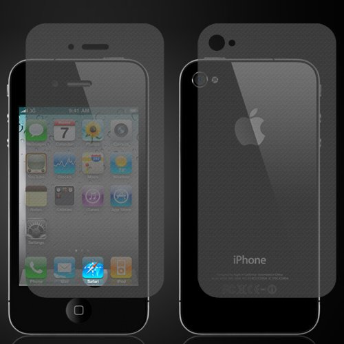 2 Set Of I Phone 4 4S 4Gs Frosted With High Definition Full Screen Protector Cover Film(Front And Back)