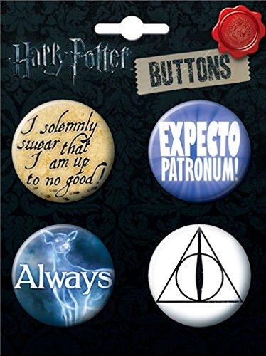 Ata-Boy Harry Potter Best Seller Assortment #1 4 Button Set