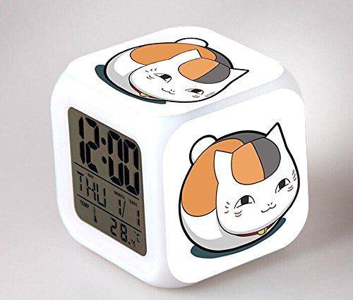 GUOHUA®Natsume Yuujinchou horloge Anime Cartoon création coloré réveil pour enfants réveil réveil numérique horloge analogique horloge lumineuse , # 2