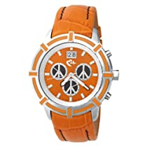 Love Peace and Hope Midsize WA06 Orange and Black Time for Peace Watch