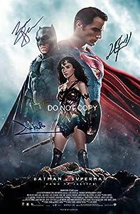 Batman v Superman reprint signed autographed cast 12x18 poster photo #2 RP