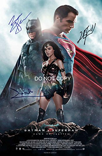 Batman v Superman reprint signed autographed cast 12x18 poster photo #2 RP