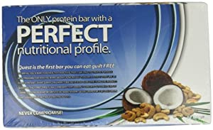 Quest Nutrition Protein Bars, Coconut Cashew, 2.12 Oz bar, (Pack of 12)