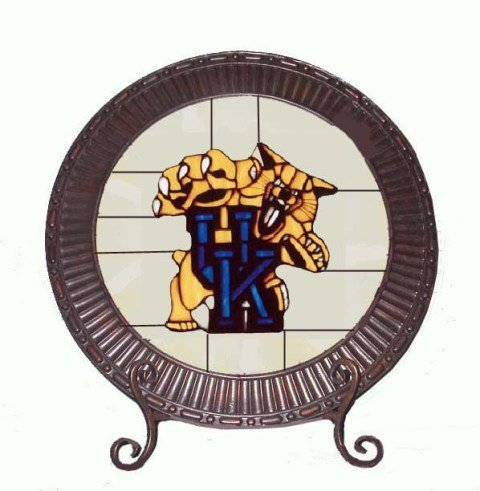 Kentucky Wildcats Stained Glass Charger Lamp at Amazon.com