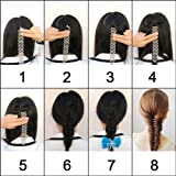 Shells Grey Color Sport Braider Hairstyling Tool French Hair Braiding Tool Set Of 2