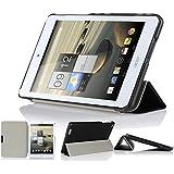 IVSO Slim Smart Cover Housse pour Acer Iconia One 8 B1-810 Tablette avec Fonction Sommeil/Réveil Automatique (Noir)