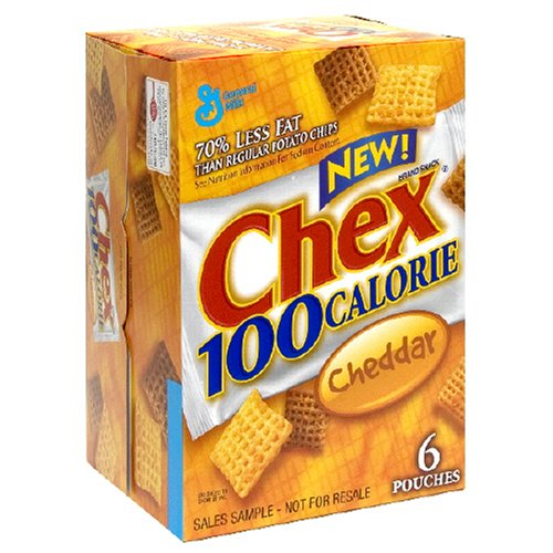 Chex 100 Calorie Snack Mix, Cheddar, 4.9-Ounce Packages (Pack of 8)