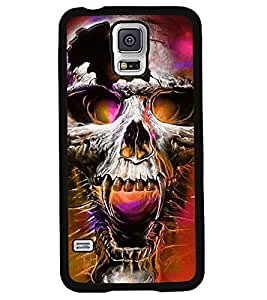 Fuson 2D Printed Skull Designer back case cover for Samsung Galaxy S5 - D4463