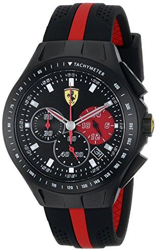 Ferrari para vestidos para hombre reloj infantil de cuarzo NWT analógico 0830023