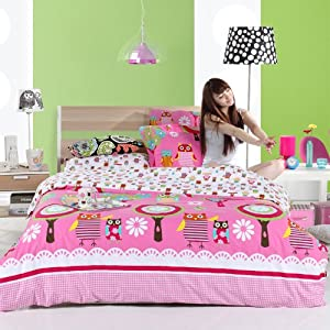 Amazon.com - DIAIDI Home Textile, Owl Bedding, Cute Owl Bedding ...