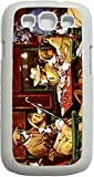 02-Poker Dogs White Plastic Case - for the Samsung Galaxy s3 i9300