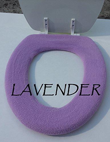 Bathroom Toilet Seat Warmer Cover - Lavender - Washable