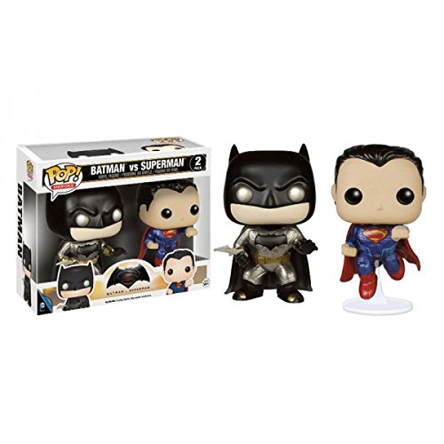 Funko Pop! Heroes Exclusive Metallic Batman Vs. Superman Bobbleheads 2 Pack at Gotham City Store