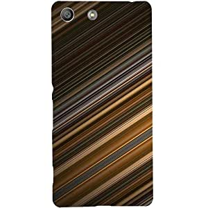 Casotec Stripes Design Hard Back Case Cover for Sony Xperia M5 Dual