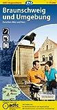 ADFC-Regionalkarte Braunschweig und Umgebung mit Tagestouren-Vorschlägen, 1:75.000, reiß- und wetterfest, GPS-Tracks Download: Zwischen Aller und Harz