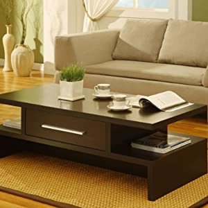 Tepekiie Cappuccino Finish Coffee Table