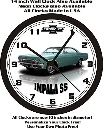 1965-chevrolet-impala-ss-wall-clock-free-usa-ship