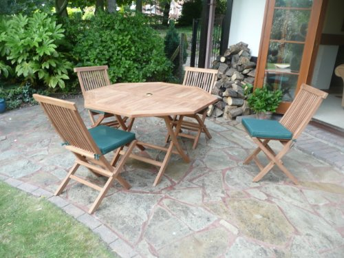 HUMBER TEAK 9 PIECE GRADE A TEAK OUTDOOR DINING SET