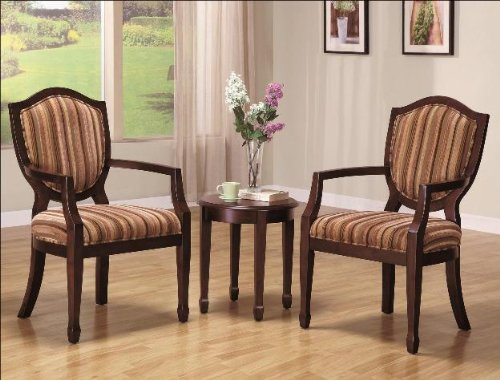 Bernard Accent Table with 2 Chairs By CrownMark Furniture