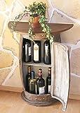 Wandtisch-Tisch-Weinfass-0373-R-Braun-Schrank-Weinregal-Fass-73cm-Beistelltisch-Konsole-Wandkonsole-Bar