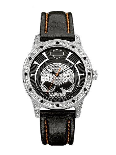 Harley-Davidson Bulova Women's Skull Watch. 76L140