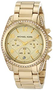 Michael Kors Mk5166 Ladies Watch with Gold Plated Bracelet and Gold Dial