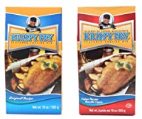 Krispy Fry Seasoned Coating Mix, Combo - 2 Original & 1 Cajun Recipe - 3 Pack