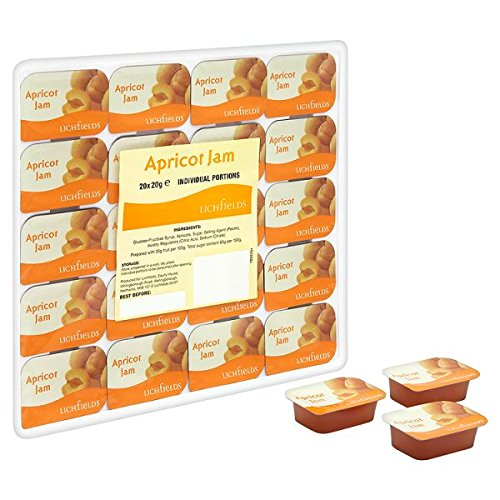 Portions Lichfields confiture d'abricots individuels 20 x 20g