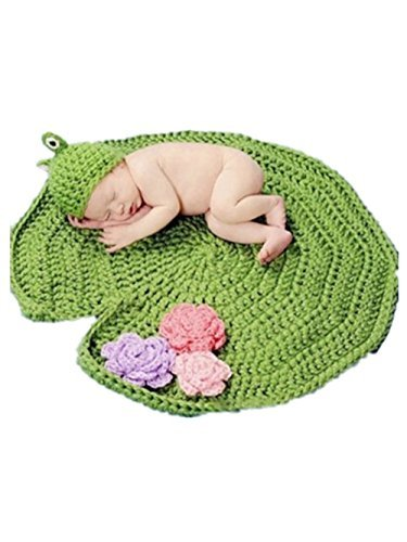 pep-babyr-baby-newborn-hand-knitted-crochet-hat-costume-baby-photograph-props-set-frog-on-lotus-leaf