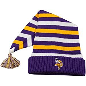 NFL End Zone Toboggan Hat - K166Z, Minnesota Vikings, One Size Fits All