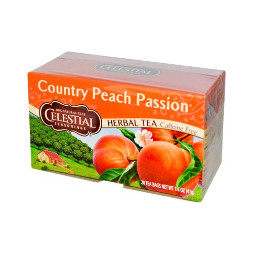 Wholesale Celestial Seasonings Herbal Tea Caffeine Free Country Peach Passion - 20 Tea Bags - Case Of 6, [Food, Tea]
