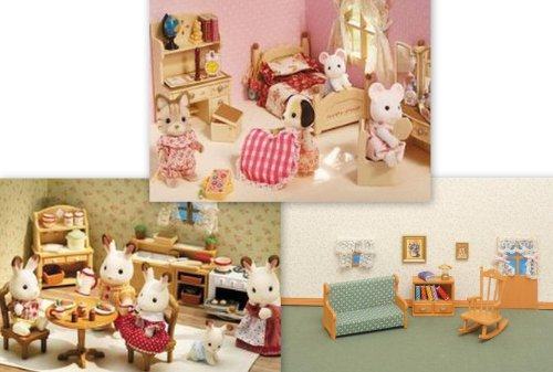 Calico Critters Kitchen Sister s Bedroom Living Room 3