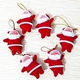 Pixnor® Cute Mini Santa Claus Style Christmas Tree Party Hanging Decorations Christmas Ornaments - 10 pcs/set