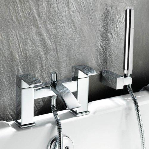 Ecco Bathroom Taps - Chrome Bath Filler Mixer Tap with