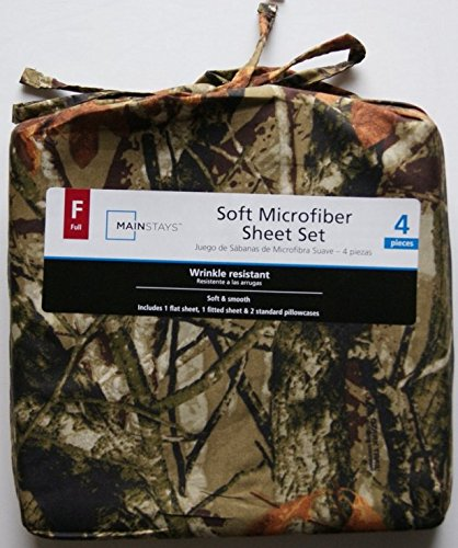 Mainstays Camouflage Soft Microfiber Full Sheet Set 844178026871 (Camouflage Sheets Full compare prices)