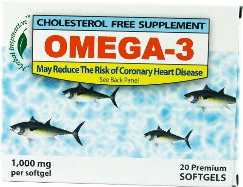 Omega-3 Fish Oil 1000 Mg Softgels Clolestrol Free