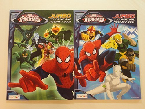 Marvel Ultimate Spider-Man Jumbo Coloring and Activity Book Set of 2 - 1