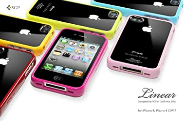 SGP アイフォン 4 / 4S ケース Linear クリスタルシリーズ 【 ダンテ・レッド 】液晶保護シートセット for Apple iPhone 4 / 4S