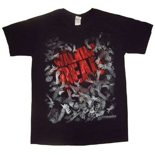 The Walking Dead - Walker Horde and Logo, Short sleeve da uomo, nero (black), S