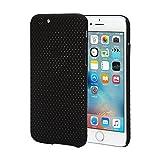 iPhone6s ケース   iphone6s メッシュケース iphone6s 軽量ケース   Provare PVI6SMCBK   放熱 ハードケース さらさら ラバーコート (メッシュケース (4.7), ブラック)